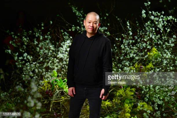 Designer Jason Wu walks the runway for the Jason Wu Collection during February 2020 - New York Fashion Week: The Shows at Skylight Modern on February...