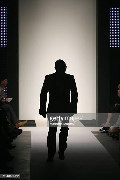 Designer Jayson Brunsdon on the runway at the Jayson Brunsdon Spring/Summer 2010 show during Rosemount Australian Fashion Week