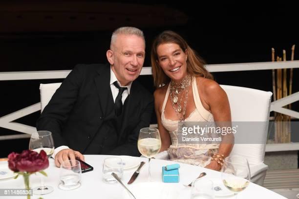 Designer Jean Paul Gaultier and Fiona Swarovski attend 2017 Ischia Global Film Music Fest on July 9 2017 in Ischia Italy