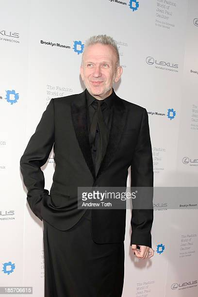 Designer Jean Paul Gaultier attends the VIP reception and viewing for The Fashion World of Jean Paul Gaultier From the Sidewalk to the Catwalk at the...