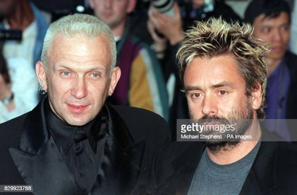 Designer JeanPaul Gaultier with director Luc Besson at this evening's London premiere of the scifi movie The Fifth Element in Leicester Square Besson...