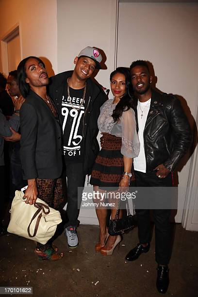 Designer Jeffrey Williams Chef Roble actress/ photographer Chenoa Maxwell and recording artist Luke James attend Leaders Of The New Cool at Canoe...
