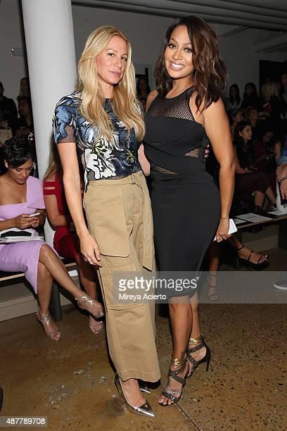 Designer Jennifer Fisher and La La Anthony attend the Cushnie Et Ochs fashion show during Spring 2016 MADE Fashion Week at Milk Studios on September...