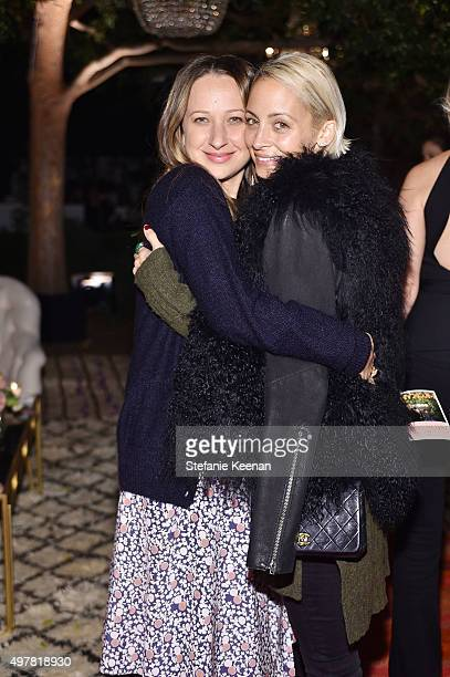 Designer Jennifer Meyer and TV Personality Nicole Richie attend Barneys New York Jennifer Aniston and Tobey Maguire host a private dinner to...