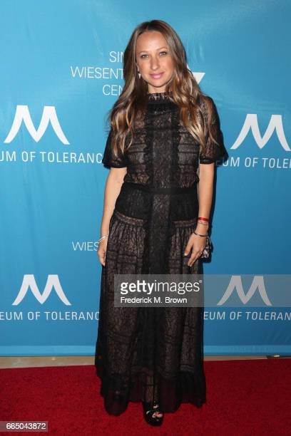 Designer Jennifer Meyer attends The Simon Wiesenthal Center's 2017 National Tribute Dinner at The Beverly Hilton Hotel on April 5 2017 in Beverly...