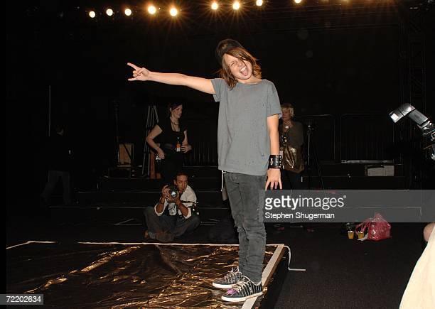 Designer Jennifer Nicholson son in the front row at the Jennifer Nicholson Spring 2007 fashion show during Mercedes Benz Fashion Week at Smashbox...