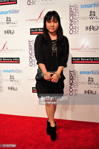Designer Jenny Han appears on the red carpet at Meet The Designer and the Muse at Ace Gallery on March 8 2012 in Los Angeles California