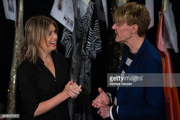 Designer Jenny Packham and Ken Downing attend the Jenny Packham fashion show during September 2016 New York Fashion Week The Shows at The Dock...