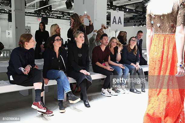 Designer Jenny Packham attends rehearsal for Jenny Packham Fall 2016 fashion show during New York Fashion Week: The Shows at The Gallery, Skylight at...