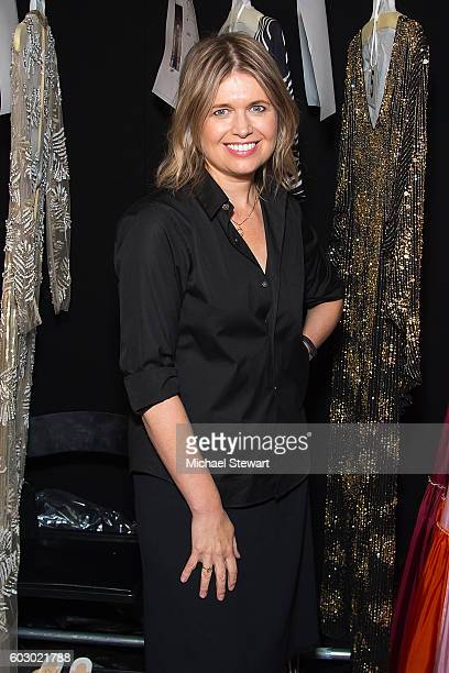 Designer Jenny Packham attends the Jenny Packham fashion show during September 2016 New York Fashion Week The Shows at The Dock Skylight at Moynihan...