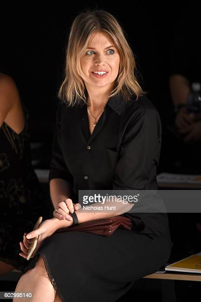 Designer Jenny Packham watches rehearsal for the Jenny Packham fashion show during New York Fashion Week: The Shows at The Dock, Skylight at Moynihan...