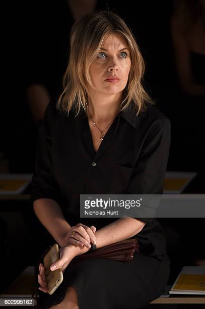 Designer Jenny Packham watches rehearsal for the Jenny Packham fashion show during New York Fashion Week The Shows at The Dock Skylight at Moynihan...