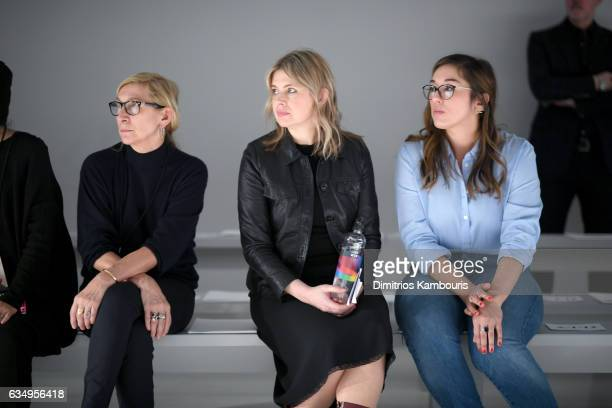 Designer Jenny Packham watches rehearsals for the Jenny Packham collection during New York Fashion Week The Shows at Gallery 3 Skylight Clarkson Sq...