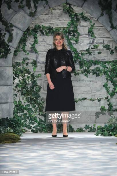 Designer Jenny Peckham takes a bow on the runway for the Jenny Packham collection during New York Fashion Week The Shows at Gallery 3 Skylight...