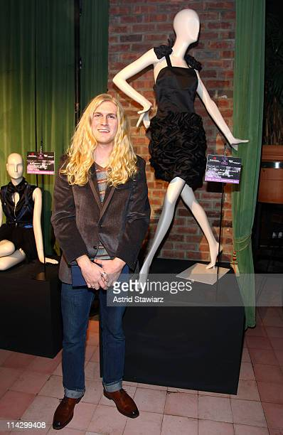 Designer Jeremy Hunt poses next to his design at The Humane Society of the United States & The Art Institute's Fifth Annual Cool vs. Cruel Awards...