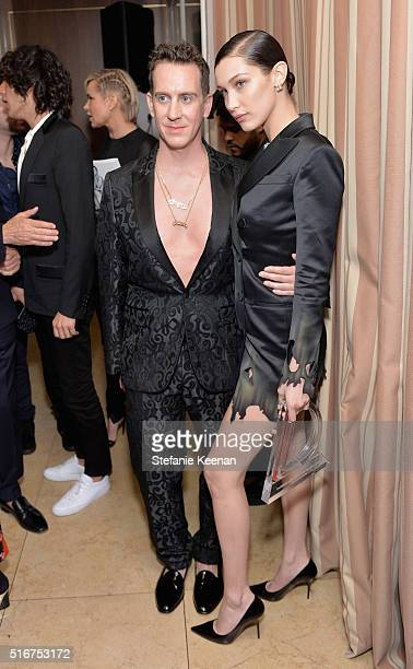 COVERAGE Designer Jeremy Scott and model Bella Hadid attend The Daily Front Row 'Fashion Los Angeles Awards' 2016 at Sunset Tower Hotel on March 20...