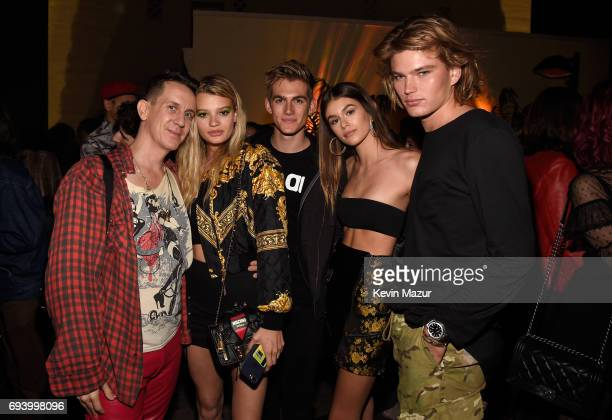 Designer Jeremy Scott and models attend the Moschino Afterparty at Hollywood Roosevelt Hotel on June 8 2017 in Hollywood California