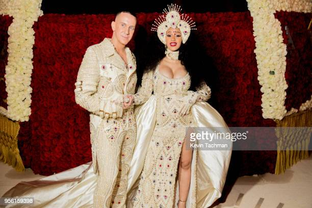 Designer Jeremy Scott and recording artist Cardi B at Heavenly Bodies Fashion The Catholic Imagination Costume Gala at The Metropolitan Museum of Art...