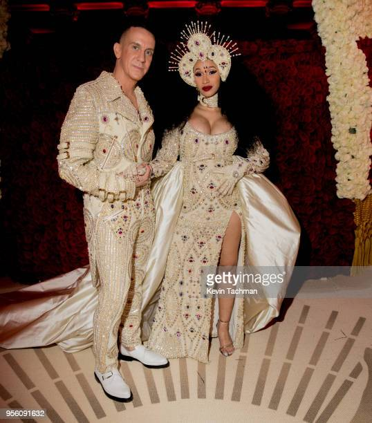 Designer Jeremy Scott and recording artist Cardi B attend Heavenly Bodies: Fashion & The Catholic Imagination Costume Institute Gala at The...