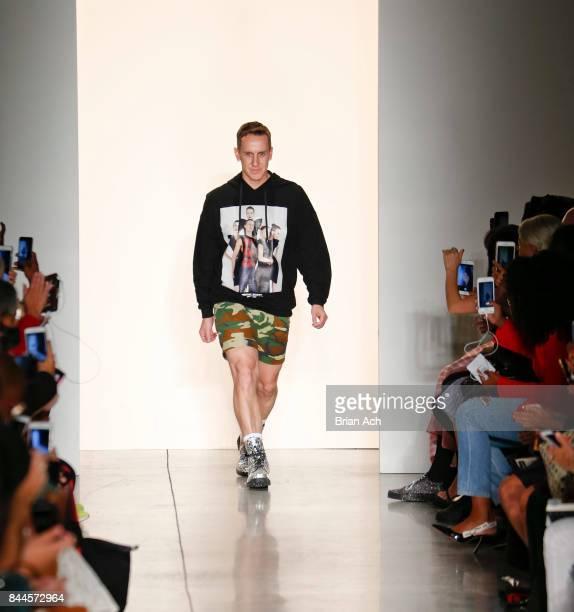 Designer Jeremy Scott appears on the runway during the Jeremy Scott fashion show during during New York Fashion Week at Spring Studios on September 8...