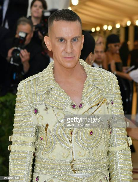 Designer Jeremy Scott arrives for the 2018 Met Gala on May 7 at the Metropolitan Museum of Art in New York The Gala raises money for the Metropolitan...