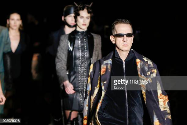 Designer Jeremy Scott at the Moschino show during Milan Men's Fashion Week Fall/Winter 2018/19 on January 13 2018 in Milan Italy