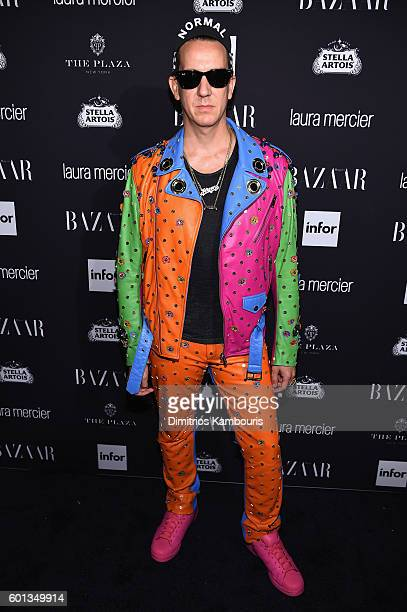 "Designer Jeremy Scott attends Harper's Bazaar's celebration of ""ICONS By Carine Roitfeld"" presented by Infor, Laura Mercier, and Stella Artois at The..."