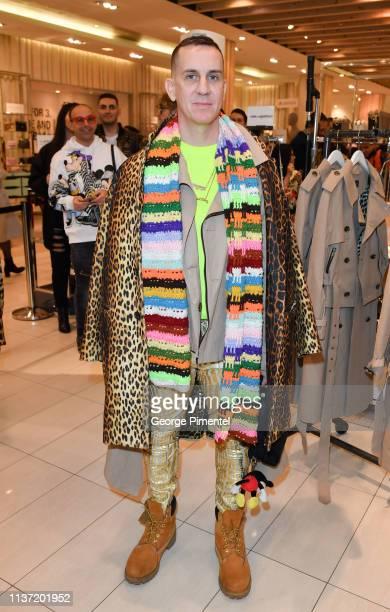 Designer Jeremy Scott attends Hudson's Bay Celebration of the London Fog X Jeremy Scott Collaboration held at Hudson's Bay Queen Street on March 20...