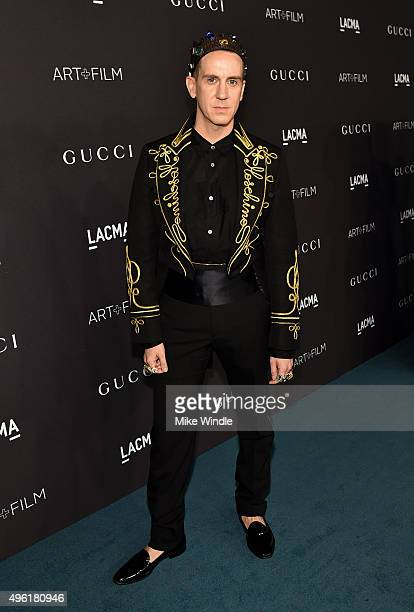 Designer Jeremy Scott attends LACMA 2015 ArtFilm Gala Honoring James Turrell and Alejandro G Iñárritu Presented by Gucci at LACMA on November 7 2015...