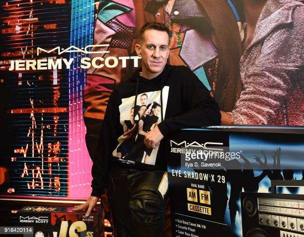 Designer Jeremy Scott attends MAC X Jeremy Scott Collaboration In Store Consumer Meet Up at MAC Soho on February 9 2018 in New York City