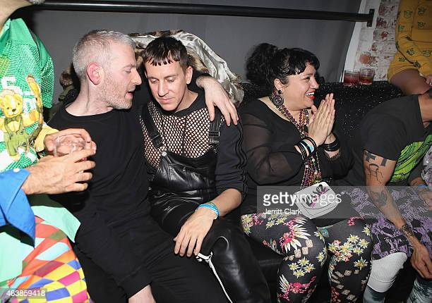 Designer Jeremy Scott attends the Jeremy Scott Fall 2015 after party during MercedesBenz Fashion Week Fall 2015 at Space Ibiza on February 18 2015 in...