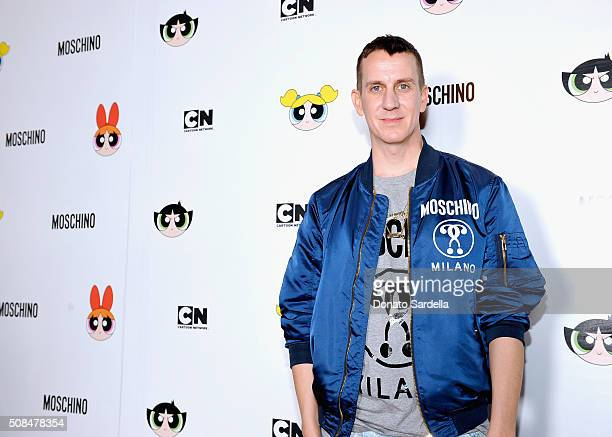 Designer Jeremy Scott attends The Powerpuff Girls x Moschino Launch Event at Moschino Store on February 4, 2016 in West Hollywood, California....
