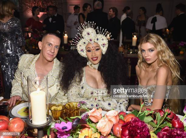 Designer Jeremy Scott Cardi B and Stella Maxwell attend the Heavenly Bodies Fashion The Catholic Imagination Costume Institute Gala at The...