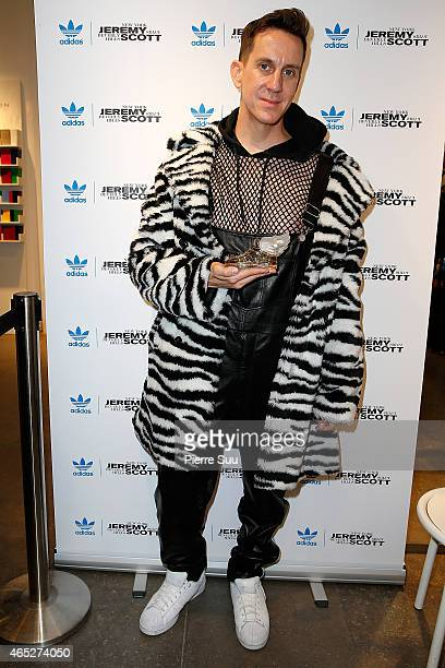 Designer Jeremy Scott Launches New Fragrance Adidas Originals At Colette as part of the Paris Fashion Week Womenswear Fall/Winter 2015/2016 on March...