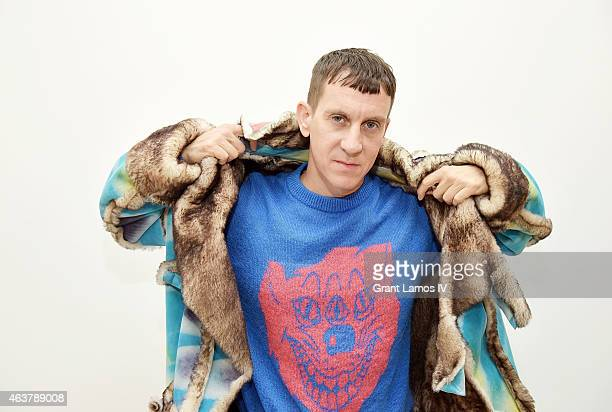 Designer Jeremy Scott poses backstage at the Jeremy Scott show during Fashion Week Fall 2015 at Milk Studios on February 18 2015 in New York City