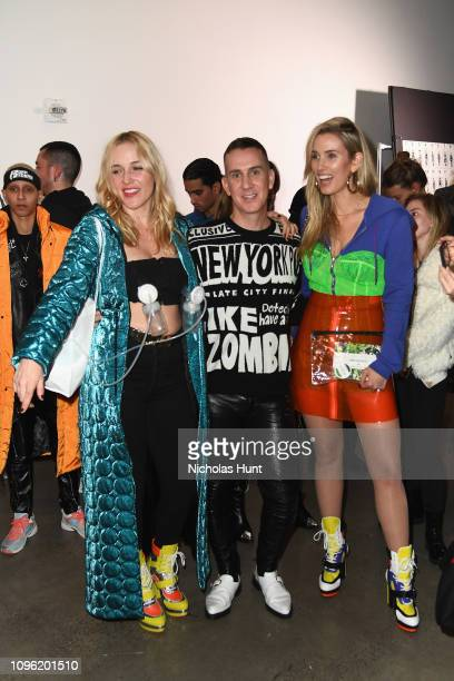 Designer Jeremy Scott poses backstage for Jeremy Scott fashion show during New York Fashion Week The Shows at Gallery I at Spring Studios on February...