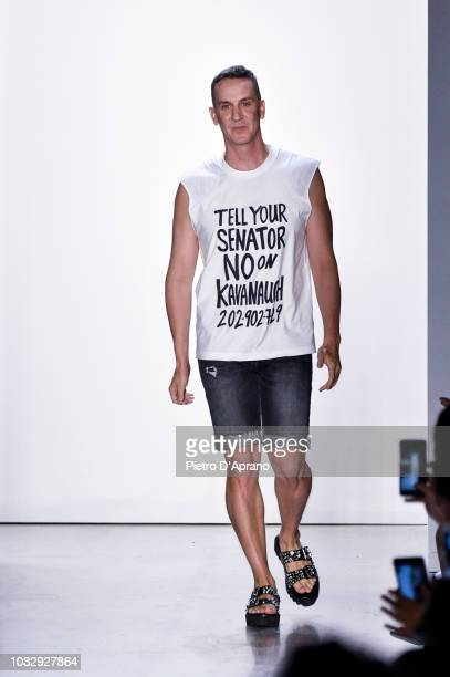 Designer Jeremy Scott walks the runway at the Jeremy Scott fashion show during New York Fashion Week on September 6 2018 in New York City
