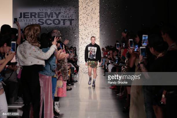 Designer Jeremy Scott walks the runway during the Jeremy Scott Runway September 2017 New York Fashion Week The Shows on September 8 2017 in New York...