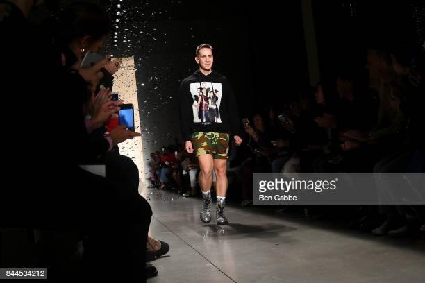 Designer Jeremy Scott walks the runway during the Jeremy Scott Fashion Show during New York Fashion Week at Spring Studios on September 8 2017 in New...