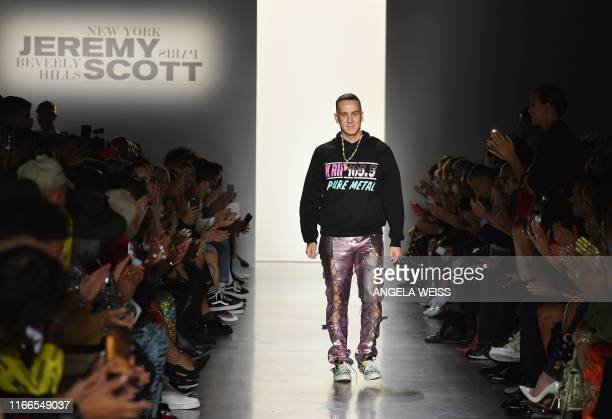 Designer Jeremy Scott walks the runway for his spring/summer 2020 show during New York Fashion Week The Shows at Spring Studios on September 6 2019...