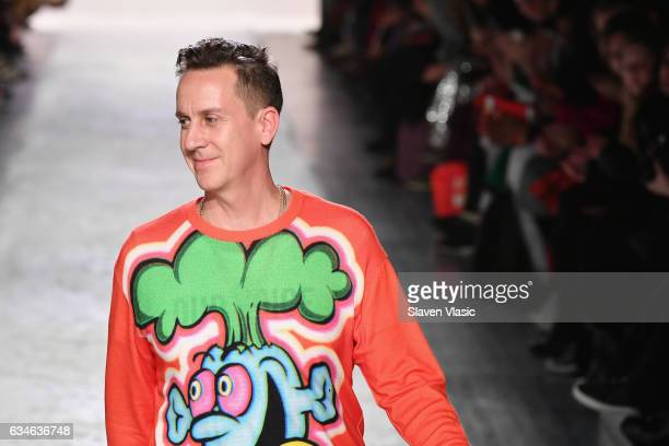 Designer Jeremy Scott walks the runway for the Jeremy Scott collection during New York Fashion Week The Shows at Gallery 1 Skylight Clarkson Sq on...