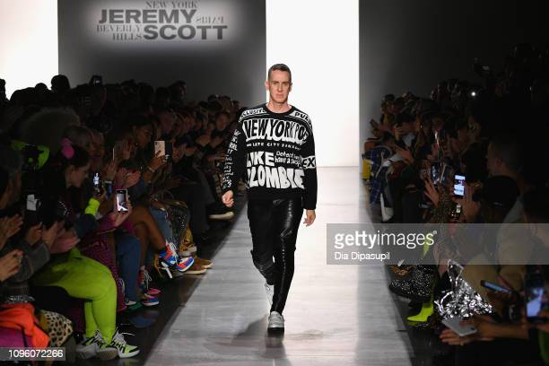 Designer Jeremy Scott walks the runway for the Jeremy Scott fashion show during New York Fashion Week The Shows at Gallery I at Spring Studios on...