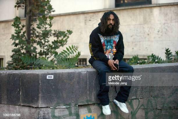 Designer Jerry Lorenzo wears Fear Of God pants during Paris Fashion Week Spring/Summer 2019 on September 29 2018 in Paris France