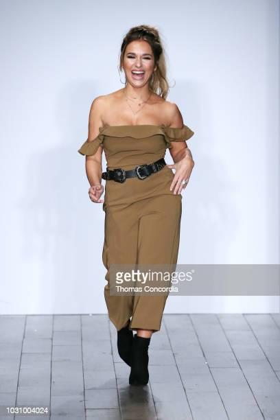 Designer Jessie James Decker walks the runway as STYLE360 hosts Kittenish by Jessie James Decker on September 10 2018 in New York City