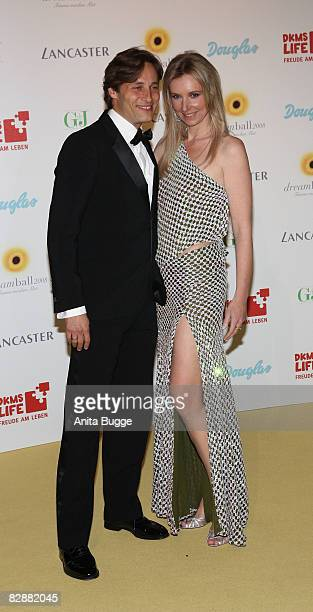 Designer Jette Joop and Christian Elsen attend the Dreamball2008 charity gala in the Martin-Gropius Building on September 18, 2008 in Berlin, Germany.