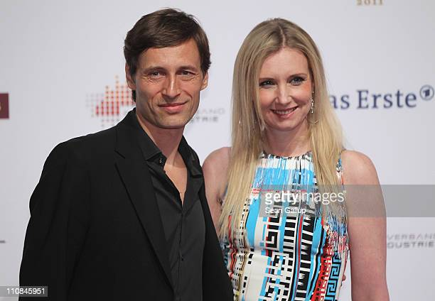 Designer Jette Joop and Christian Elsen attend the Echo Awards 2011 at Palais am Funkturm on March 24, 2011 in Berlin, Germany.