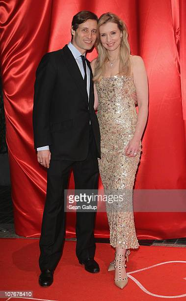 Designer Jette Joop and Christian Elsen attend the 'Ein Herz Fuer Kinder' charity gala at Axel Springer Haus on December 18 2010 in Berlin Germany