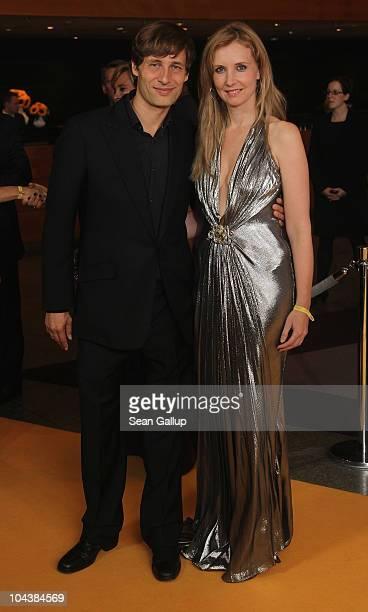 Designer Jette Joop and her husband Christian Elsen attend the Dreamball 2010 charity gala at the Grand Hyatt hotel on September 23 2010 in Berlin...
