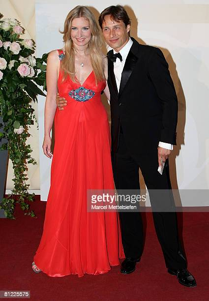 Designer Jette Joop and her husband Christian Elsen attend the Rosenball Charity Ball at the Intercontinental Hotel May 24 2008 in Berlin Germany