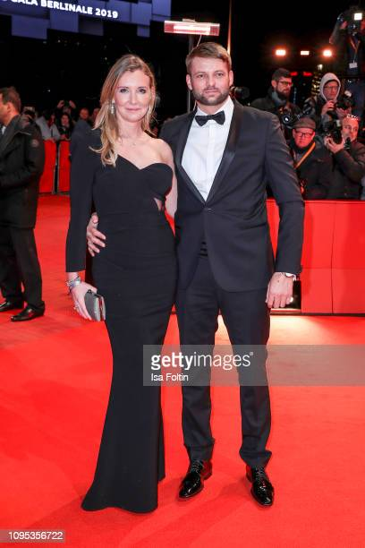 Designer Jette Joop and her partner Alexander Kinzler attend the opening ceremony and The Kindness Of Strangers premiere during the 69th Berlinale...